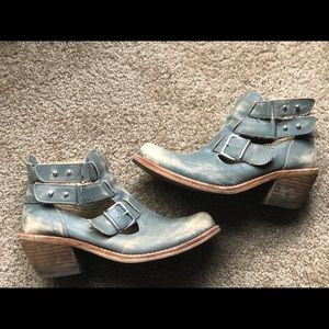 Rustic Country Ankle strap boots